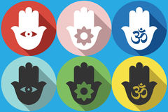 Ícone do símbolo de Hamsa Fotografia de Stock Royalty Free