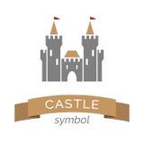 Ícone do símbolo do castelo Imagens de Stock