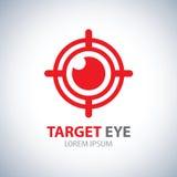 Ícone do símbolo do olho do alvo Foto de Stock Royalty Free