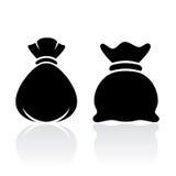 Ícone do saco do saco do dinheiro ilustração stock