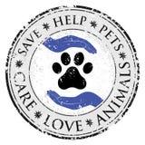 Ícone do sinal do amor da mão da pata do cão Pets o botão textured símbolo da Web Imagem de Stock Royalty Free