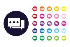 Ícone do sinal da conversação Símbolo da cor da conversação ilustração stock