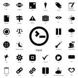 ícone do sinal da entrada Grupo detalhado de ícones minimalistic Projeto gráfico superior Um dos ícones da coleção para Web site, ilustração stock