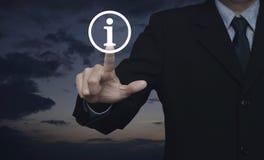 Ícone do sinal da informação, conceito do apoio ao cliente imagem de stock