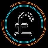 Ícone do sinal da libra, ilustração da libra do dinheiro ilustração stock