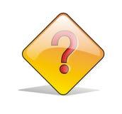 Ícone do sinal da pergunta Fotos de Stock Royalty Free