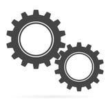 Ícone do sinal das engrenagens Imagem de Stock
