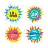ícone do sinal de um disconto de 10 por cento Símbolo da venda Fotografia de Stock Royalty Free