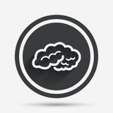 Ícone do sinal do cérebro Mente esperta inteligente ilustração royalty free