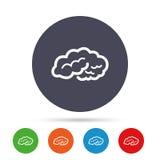 Ícone do sinal do cérebro Mente esperta inteligente ilustração stock