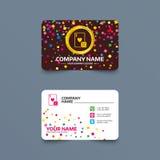 Ícone do sinal do casino Cartão de jogo com símbolo dos dados Imagem de Stock Royalty Free