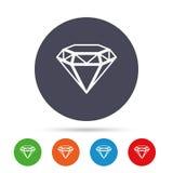 Ícone do sinal do diamante Símbolo da joia Gem Stone ilustração royalty free
