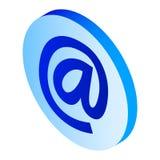 Ícone do sinal do e-mail, estilo isométrico ilustração royalty free