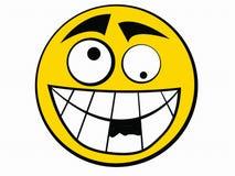 Ícone do smiley estúpido Fotos de Stock