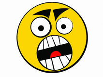 Ícone do smiley irritado Imagens de Stock Royalty Free