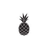 Ícone do soldi do abacaxi e do ananás, fruto saudável ilustração royalty free