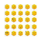 Ícone do sorriso ajustado com cara diferente Vetor Foto de Stock