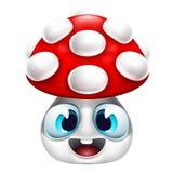 Ícone do sorriso do cogumelo Fotos de Stock Royalty Free