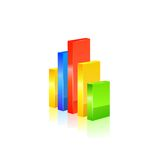 Ícone do Stats Vetor Fotografia de Stock
