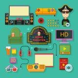 Ícone do teatro home Imagem de Stock Royalty Free