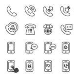 Ícone do telefone Imagens de Stock