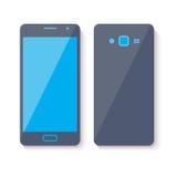 Ícone do telefone celular Projeto liso do estilo Ilustração Royalty Free