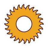 Ícone do tempo do sol do verão Imagens de Stock