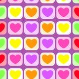 Ícone do teste padrão dos corações colorido ilustração royalty free