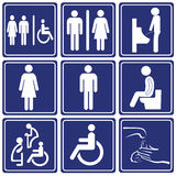 Ícone do toalete Fotos de Stock