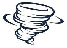 Ícone do tornado do furacão do ciclone do furacão ilustração do vetor