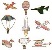 Ícone do transporte aéreo dos desenhos animados Fotos de Stock