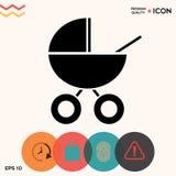 Ícone do transporte de bebê Imagem de Stock Royalty Free