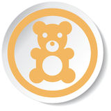 Ícone do urso Fotos de Stock