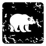 Ícone do urso, estilo do grunge ilustração stock