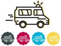Ícone do veículo da ambulância - ilustração Foto de Stock