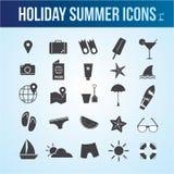 Ícone do verão do feriado Imagens de Stock Royalty Free