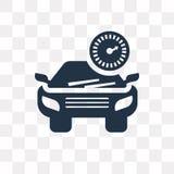 Ícone do vetor do carro isolado no fundo transparente, transpa do carro ilustração royalty free