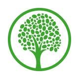 Ícone do vetor da árvore saudável ilustração royalty free