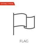 Ícone do vetor da bandeira ilustração do vetor