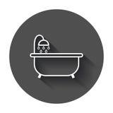 Ícone do vetor da banheira ilustração do vetor