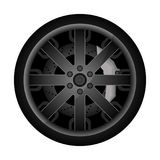 Ícone do vetor da borda do metal do carro Imagens de Stock Royalty Free