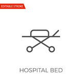 Ícone do vetor da cama de hospital Foto de Stock Royalty Free