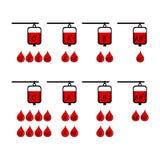 Ícone do vetor da doação da compatibilidade do sangue ilustração stock
