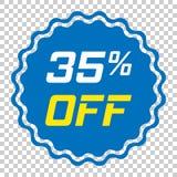 Ícone do vetor da etiqueta do disconto no estilo liso Illust do sinal da etiqueta da venda Foto de Stock