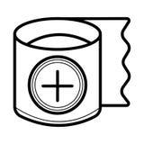 Ícone do vetor da gaze ilustração stock