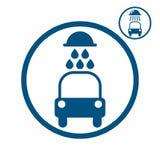 Ícone do vetor da lavagem de carros Imagens de Stock