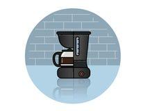 Ícone do vetor da máquina do café Fotos de Stock Royalty Free