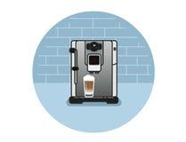 Ícone do vetor da máquina do café Imagem de Stock Royalty Free