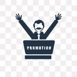 Ícone do vetor da promoção isolado no fundo transparente, Promot ilustração royalty free