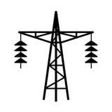 Ícone do vetor da torre da linha elétrica Fotografia de Stock